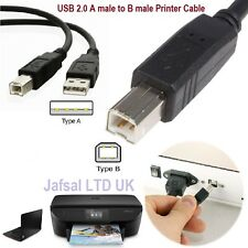 1m 2m 3m USB Cable Printer Lead A TO B Male High Speed 2.0 Epson Kodak HP LONG