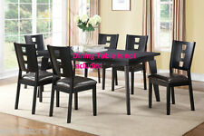 Modern Dining Chairs Faux Leather Comfort Chair set Dining room Furniture