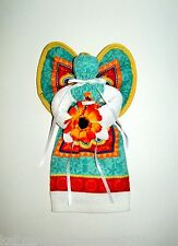 Angel Designed with Colorful Prints and a Large Flower