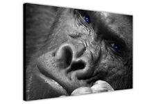 GORILLA THINKING ON CANVAS WALL ART PICTURES ANIMAL PRINTS WILDLIFE POSTERS DECO