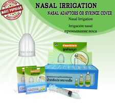Nasal irrigator Wash by Nasal Adaptors (Syringe cover) for Allergy Sinus&Asthma