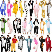 Hot Unisex Adult Pajamas Kigurumi Cosplay Costume Animal Onesie Hooded Sleepwear
