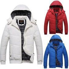 Winter Warm Hooded Parka Men Thick Short Duck Down Coat Outwear Jacket Solid H36