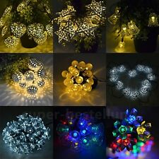 LED Solar Powered Garden String Fairy Lights Outdoor/ Indoor Wedding Christmas