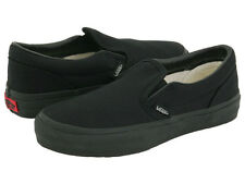 Vans Slip On All Black Skate Youth Kids Boys Girls Shoes Sneakers Sizes 10.5-4