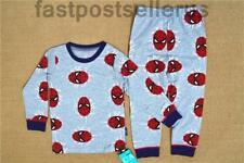 Spiderman Cotton Boys Kids Pajamas Pyjamas 2pcs Sleepwear Costume  Set 1-6Y