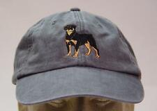 ROTTWEILER WOMEN MEN SOLID COLOR DOG BASEBALL CAP - Price Embroidery Canine Hat