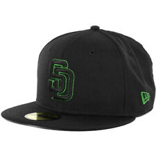 New Era 59Fifty San Diego Padres Fitted Hat (Black/Black/Kelly Green) Men's Cap