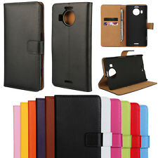 New Genuine Leather Flip Case Cover Wallet Card Holder For Microsoft Lumia NOKIA