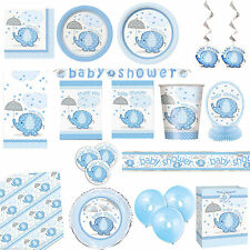 Baby Shower UMBRELLAPHANTS BLUE BOY PARTY Tableware Balloons  Decorations Range
