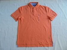 NEW men Tommy Hilfiger short sleeve classic fit Ivy Polo shirt size L, XL orange