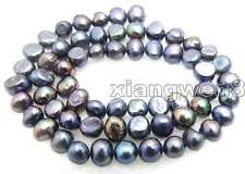 """SALE Small 6 to 7mm Natural Black Freshwater BAROQUE Pearl Loose Beads 14""""-lo455"""