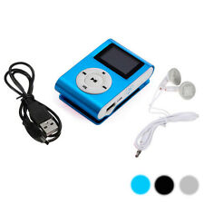 Hot Sale Support 32GB 3.5mm Mini Clip USB MP3 Player Micro SD TF Card LCD Screen