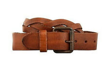 Timberland Men's Earthkeepers Braided Leather Caramel Brown Belt Style #B6104