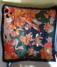 Totes Rain Scarf Lg Lovely Print Water Repellant Polyester Rolled Edge