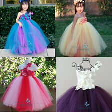 One Shoulder Flower Girl Dresses Princess Pageant Wedding Party Birthday Dresses