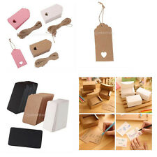 100pcs Kraft Paper Craft Price Hang Tags Wedding Gift Tags Party Cards Favor DIY