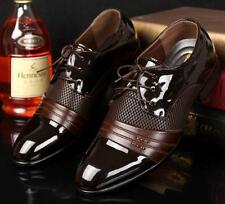 New Black Brown Mens Casual Lace Up Oxford Dress Formal Wedding Comfort Shoes Sz