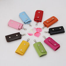 Men's Women's PU Leather Key Chain Accessory Pouch Bag Wallet Case Key Holder