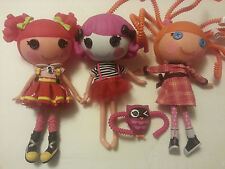 Lalaloopsy Full Size Doll Lot of 3 Silly Hair Charlotte Charades Ember Flicker
