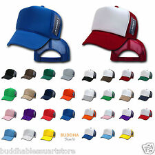 LOT OF 6 DECKY NEW TRUCKER HAT HATS CAP CAPS TWO TONE BLANK PLAIN SOLID SNAPBACK