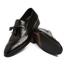 Stylish New Men's Real Leather Dress Formal shoes Tassel Slip on Loafers Size 10