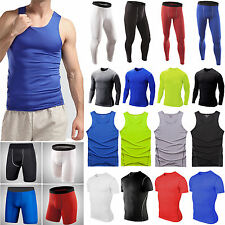 Mens Armour Compression Baselayers Shirts Tight Thermal Skins Shorts Pants Tops