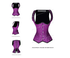 22 Double Steel Boned Waist Training Brocade Underbust Shaper Corset #8528-BRO
