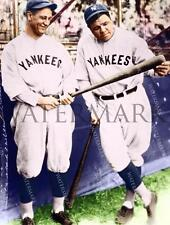 AZ77 Babe Ruth & Lou Gehrig New York Yankees 1927 8x10 11x14 Colorized Photo