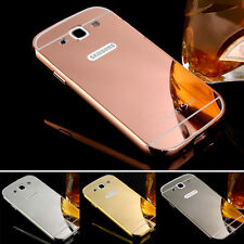 For Samsung Galaxy SIII S3 /i9300 Metal Frame Bumper + PC Mirror Back Case Cover