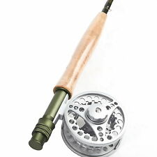 Fly Rod And Fly Reel Combo 3/4/5/6/8WT Medium-fast Fly Fishing Rod & Fly Reel