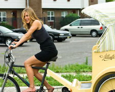 JENNIFER ANISTON ON BICYCLE PHOTO OR POSTER