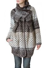 CASPAR Ladies Warm Coarse Crocheted Winter Wool Coat Wool Coat Cardigan NEW