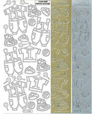 Starform Outline Stickers 1094 Naissance Layette Baby Auto-collants Peel offs