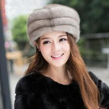 Genuine Winter Women Real New Mink Fur Hat Cap Headgear Beanie Beret   QS 0011