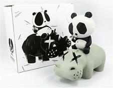 "CACOOCA - Hippo PANDA GRAY - Vinyl Figure approx 9.8"" tall limited to 200pc"