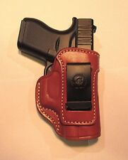 Leather Inside the Waist (IWB) Gun Holster  - GLOCK 42, SIG P938, KAHR 9 (#5349)