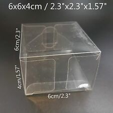 Clear Plastic PVC Boxes Party Favor Wedding Tuck Top Display Box 6x6x4cm