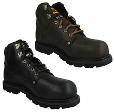 CATERPILLAR MENS LACE UP LEATHER SAFETY ANKLE STEEL TOE WORK BOOTS GROUSER ST