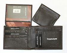 NIB Pierre Cardin RFID Blocking Genuine Leather Mens Walllet w/Coin Change Purse