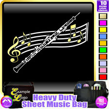 Oboe Curved Stave - Sheet Music & Accessories Personalised Bag by MusicaliTee