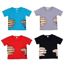 2-7Y Funny Toddler Boy Kid 3D Hand Printed T-SHIRT Child Cool Effect Tops Shirts