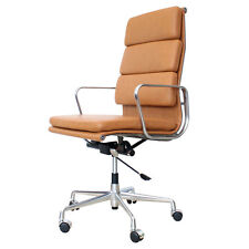 Eames Inspired Soft Pad High Back Office Chair EA219 Tan Leather