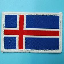 Republic Of Iceland Icelander Icelandic National Flag Iron on Sew Patch Badge Em