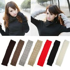 Fashion Women Knit Crochet Long Fingerless Winter Gloves Arm Warmer Mitten USA