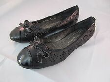Shoes Flats Ballet Womens Women Slip Classic S Leather Alpine Swiss Black Lined
