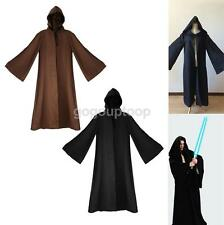 COSPLAY COSTUME JEDI SITH ROBE CLOAK CAPE BLACK/COFFEE