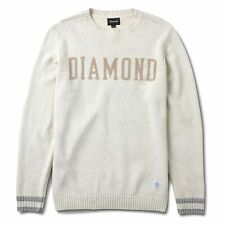 """Diamond Supply Co """"College Knit"""" Crewneck Sweater (Natural) Men's Long Sleeve"""