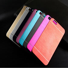 Luxury Brushed Aluminum Metal Hard Back Case Cover Skin For iPhone 4S/5S/6S Plus