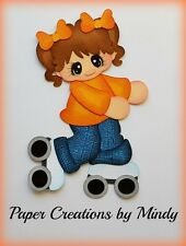 Craftecafe Mindy Rollerskating party girl premade paper piecing for scrapbook